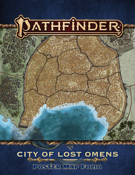Pathfinder (P2): Lost Omens - City of Lost Omens Poster Map Folio