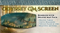 D&D 5th Edition: Odyssey of the Dragonlords GM Screen and Map 5E