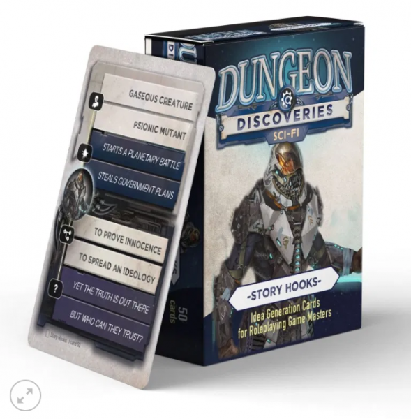 Dungeon Discoveries: Scifi Story Hooks card deck