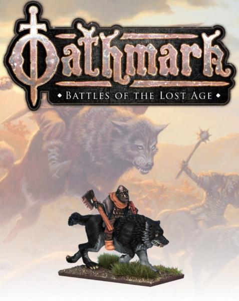28mm Fantasy: (Oathmark) Bailram, Goblin Wolf Rider Champion #1