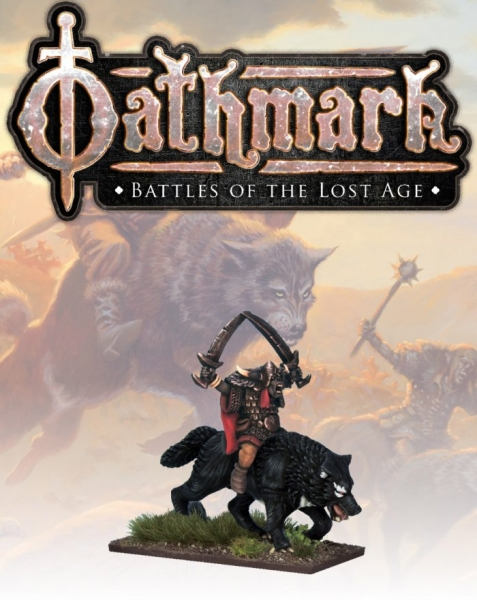 28mm Fantasy: (Oathmark) Binatour, Goblin Wolf Rider Lord