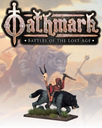 28mm Fantasy: (Oathmark) Bailbone, Goblin Wolf Rider Shaman