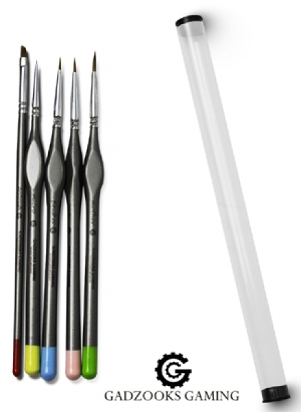 Painting Supplies: 5 Piece Kolinsky Hobby Brush Starter Set