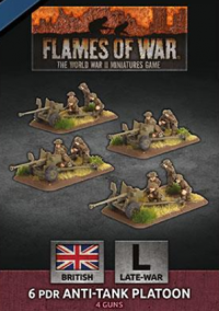 Flames Of War (WWII): (British) 6 pdr Anti-Tank Platoon (Plastic)