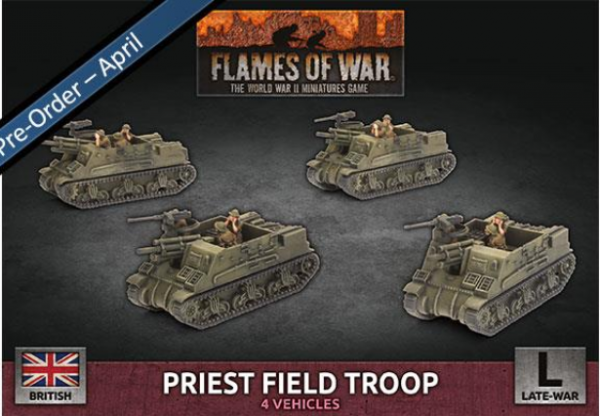 Flames Of War (WWII): (British) Priest Field Troop (Plastic)
