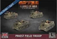 Flames Of War (WWII): (British) Priest Field Troop (Plastic)