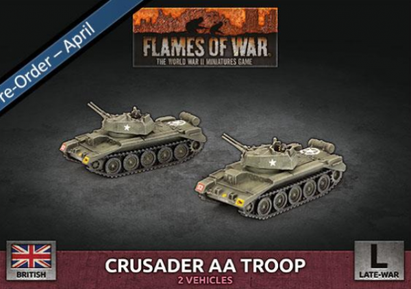 Flames Of War (WWII): (British) Crusader Armoured AA Troop (Plastic)