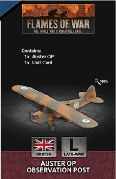 Flames Of War (WWII): (British) Auster OP Observation Post (x1)