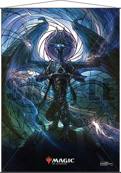 Magic: Stained Glass Wall Scroll - Nicol Bolas