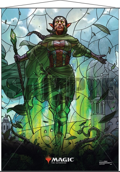 Magic: Stained Glass Wall Scroll - Nissa