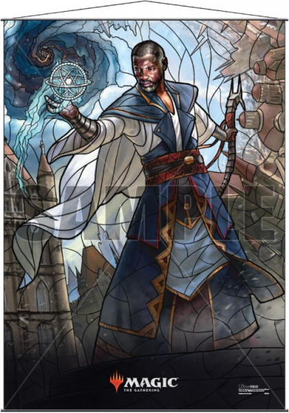 Magic: Stained Glass Wall Scroll - Teferi