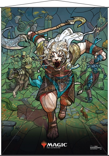 Magic: Stained Glass Wall Scroll - Ajani