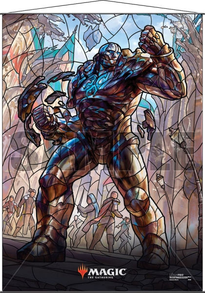 Magic: Stained Glass Wall Scroll - Karn