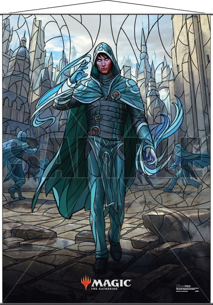 Magic: Stained Glass Wall Scroll - Jace