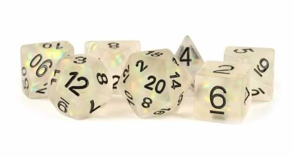 Polyhedral Dice Set: (Resin) Icy Opal Clear (7 die set)