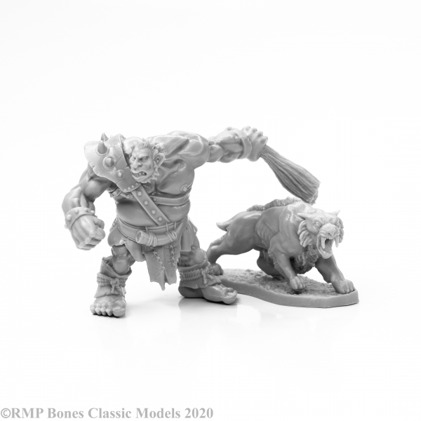 Reaper Bones Classic: Hill Giant Hunter & Dire Lion