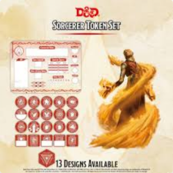 D&D 5th Edition: Player Token Set - Sorceror (21 tokens)