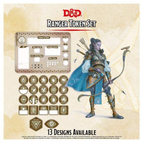 D&D 5th Edition: Player Token Set - Ranger (22 tokens)