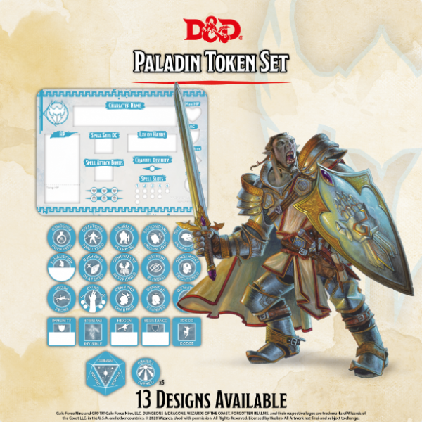D&D 5th Edition: Player Token Set - Paladin (26 tokens)