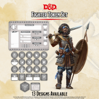 D&D 5th Edition: Player Token Set - Fighter (22 tokens)