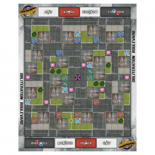 Monsterpocalypse: (Accessory) Obliteration Boulevard Fabric Playmat