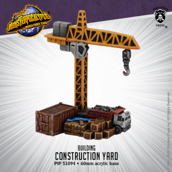 Monsterpocalypse: Construction Yard (metal/resin)