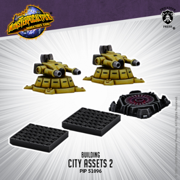 Monsterpocalypse: City Assets 2 (metal/resin)