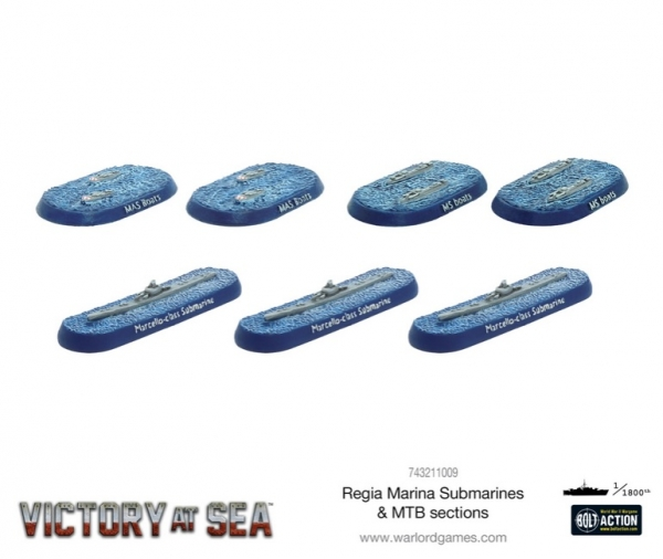 Victory at Sea: Regia Marina Submarines & MTB Sections
