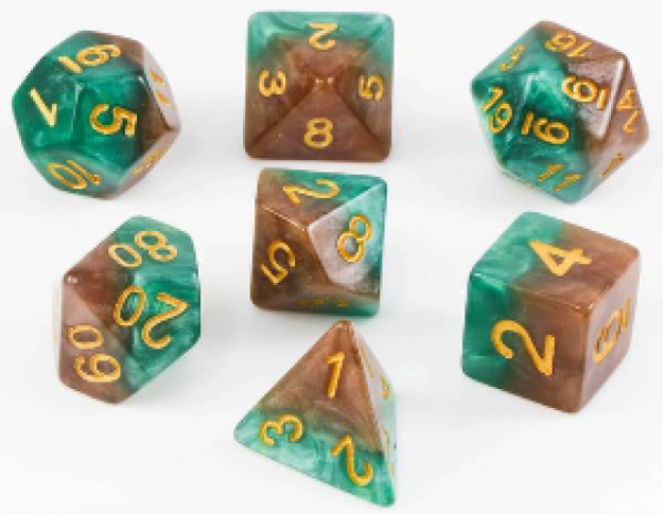 Halfsies Dice: Treant Dice - Upgraded Dice Case
