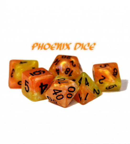 Halfsies Dice: Phoenix Dice - Upgraded Dice Case