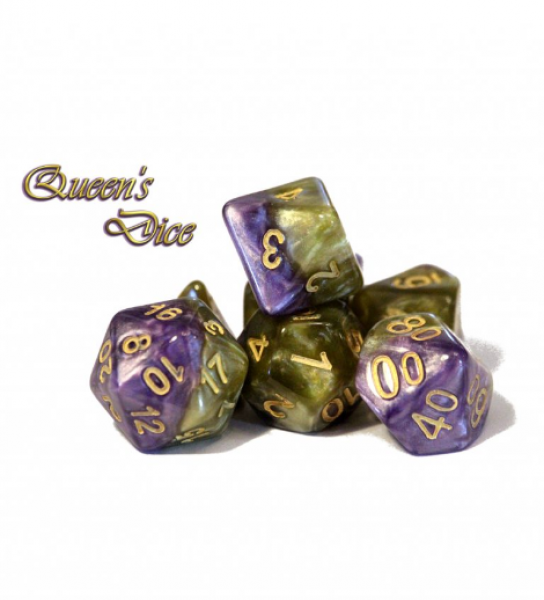 Halfsies Dice: Queen's Dice - Upgraded Dice Case