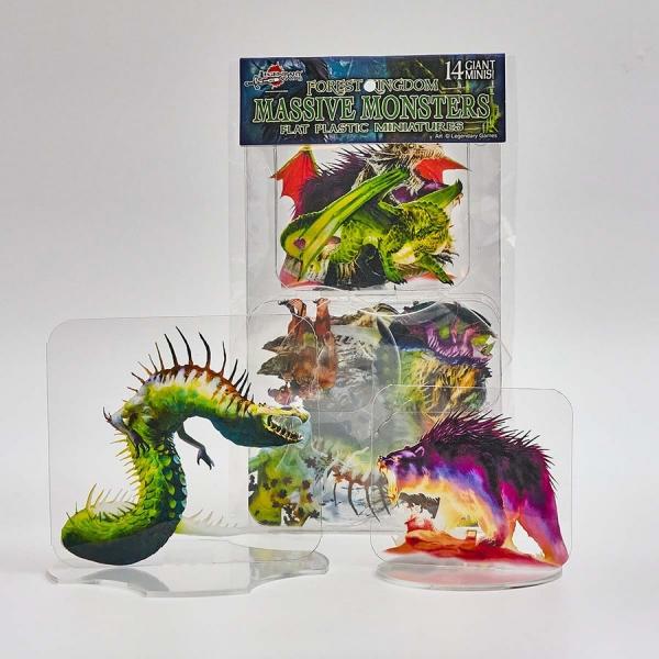 Flat Plastic Miniatures: Legendary Games Forest Kingdoms Massive Monsters