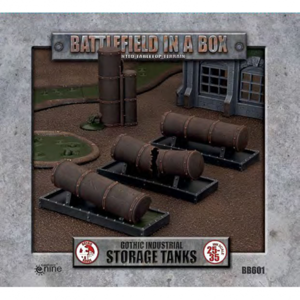 Battlefield in a Box: Gothic Industrial - Storage Tanks (4) 30mm