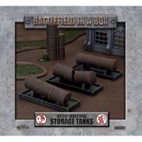 Battlefield in a Box: Gothic Industrial - Storage Tanks (4) 30mm