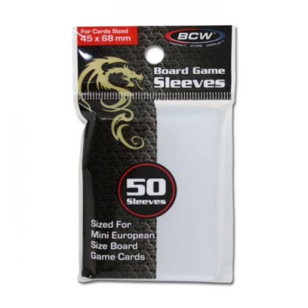 Card Game Sleeves: Mini European (50) (45mm x 68mm)