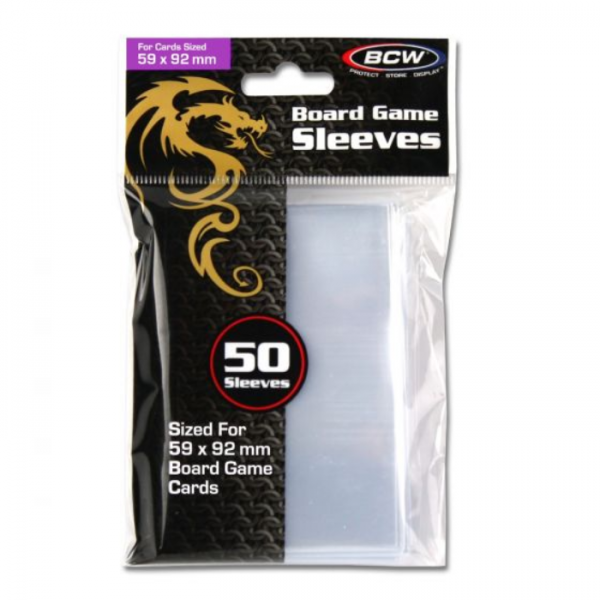 Card Game Sleeves: Std European (50) (59mm x 92mm)