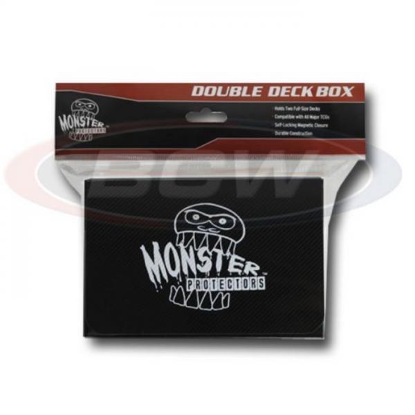 Card Game Deck Boxes: Double Deck Box - Matte Black
