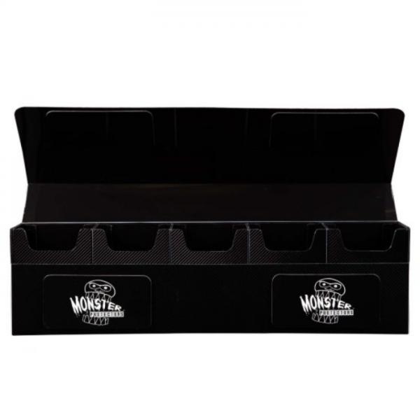 Card Game Deck Boxes: Hydra Mega 5 Compartment Deck Box - Black