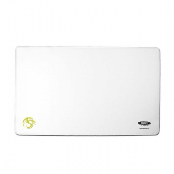 Playmat with Stitched Edging - White