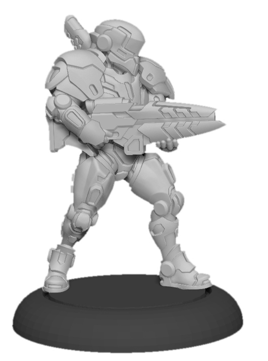 Warcaster: Paladin Enforcers – Iron Star Alliance Squad (x3) (metal)