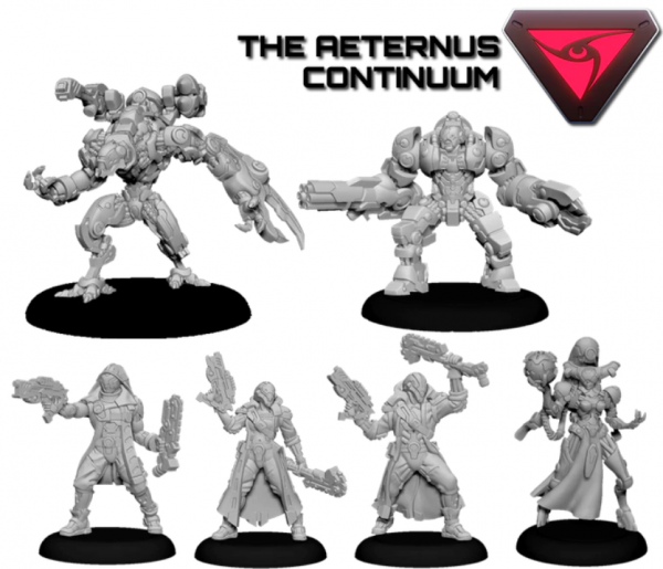 Warcaster: Aeternus Continuum Command Group Starter Set (metal)