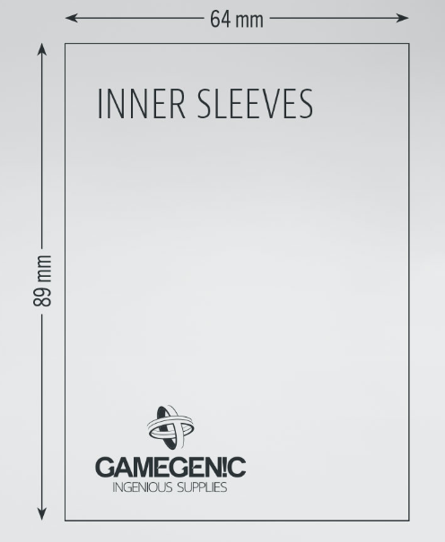 Gamegenic: Standard Size Inner Sleeves (100)