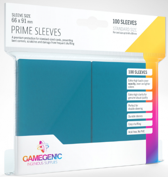 Gamegenic: Standard Size Prime Sleeves - Blue (100)