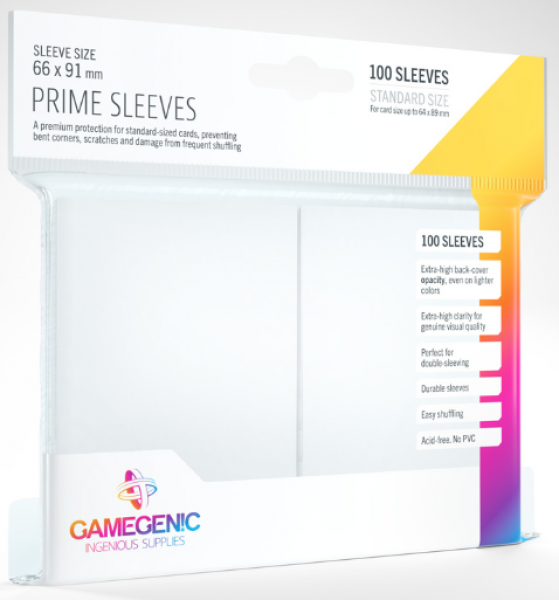 Gamegenic: Standard Size Prime Sleeves - White (100)