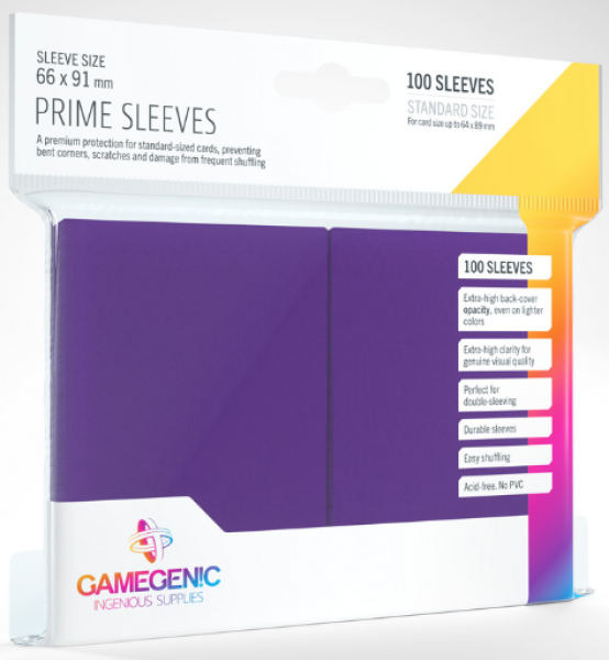 Gamegenic: Standard Size Prime Sleeves - Purple (100)