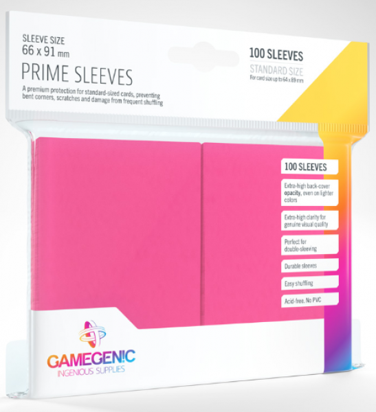 Gamegenic: Standard Size Prime Sleeves - Pink (100)
