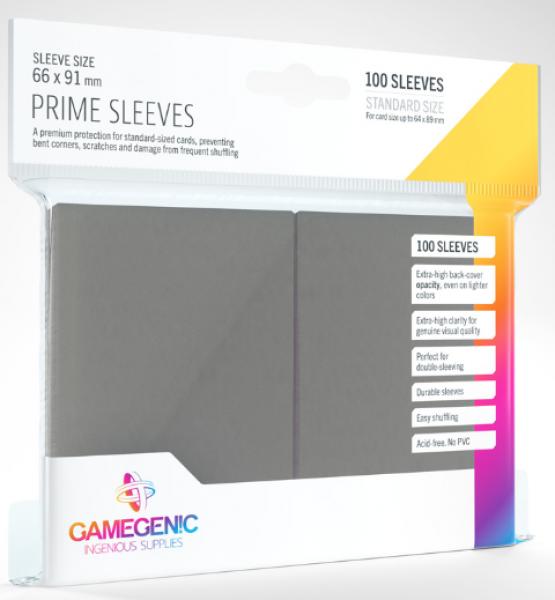 Gamegenic: Standard Size Prime Sleeves - Dark Grey (100)