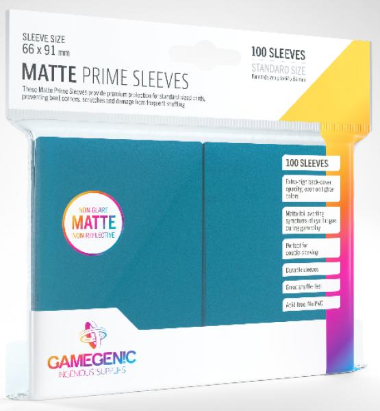 Gamegenic: Standard Size Matte Prime Sleeves - Blue (100)