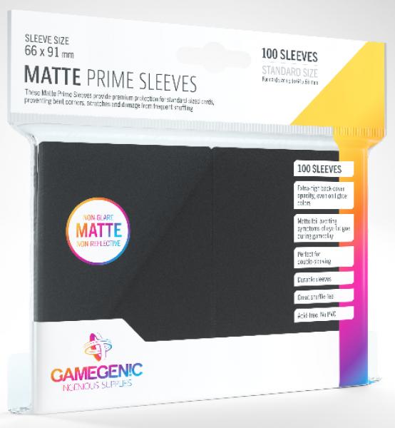 Gamegenic: Standard Size Matte Prime Sleeves - Black (100)