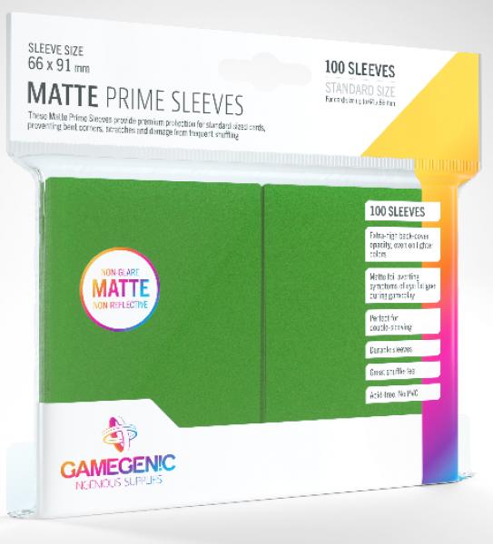 Gamegenic: Standard Size Matte Prime Sleeves - Green (100)